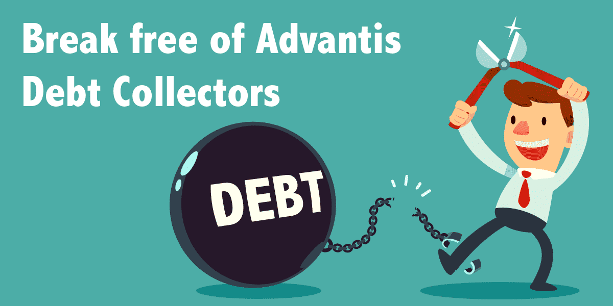 man breaking from of Advantis Debt Collection