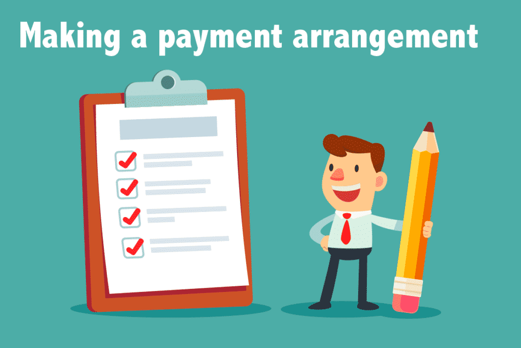 Making a payment arrangement