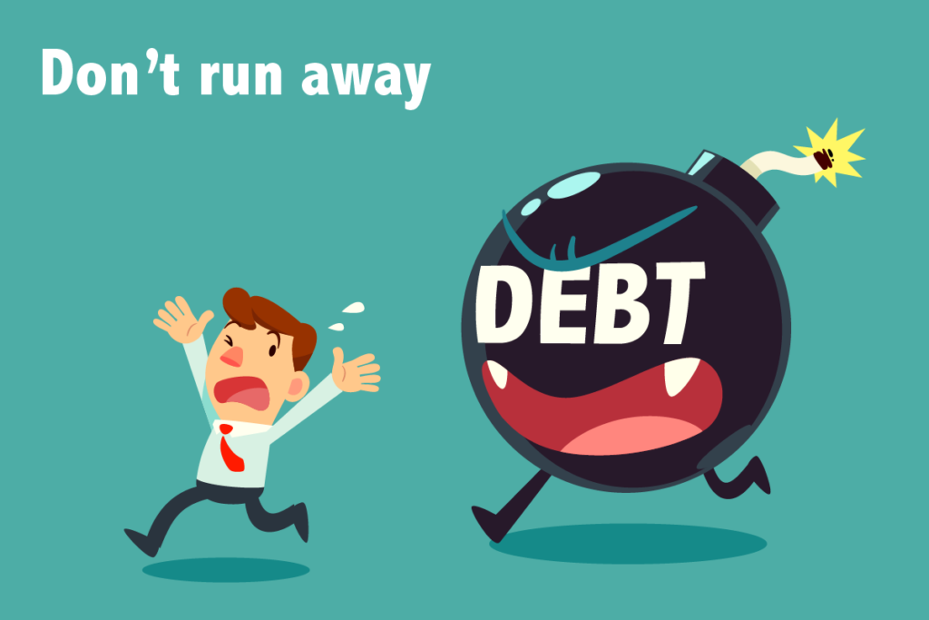Man in debt, Running away