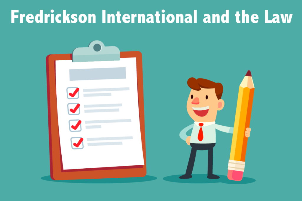 Fredrickson International and the Law