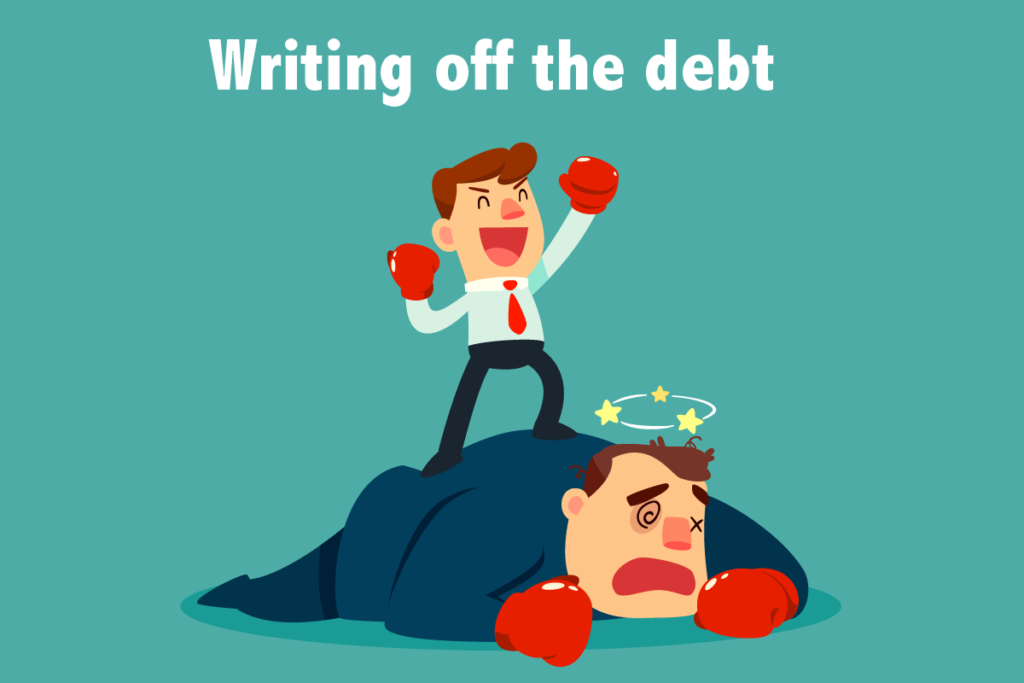 Writing off the debt