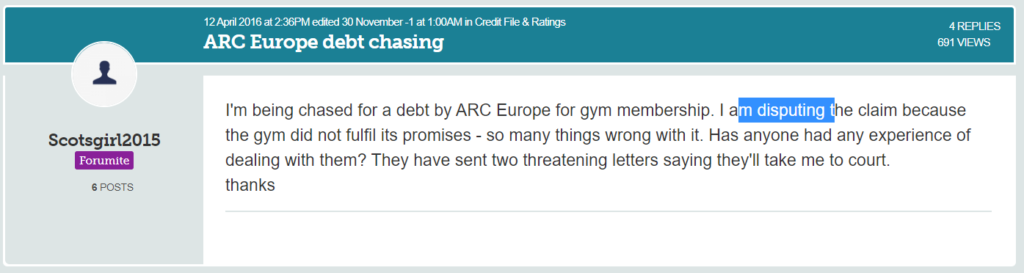ARC Europe debt chasing